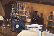 Antique Laboratory, Microscope...