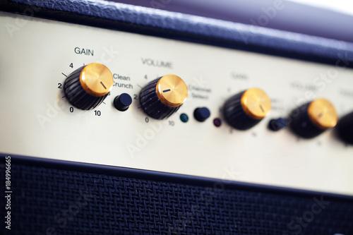 close up knob volume of electric guitar amplifier Wallpaper Mural