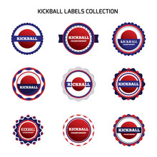 Kickball Labels And Badges