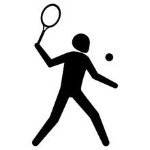 Illustration Is Tennis Sport P...