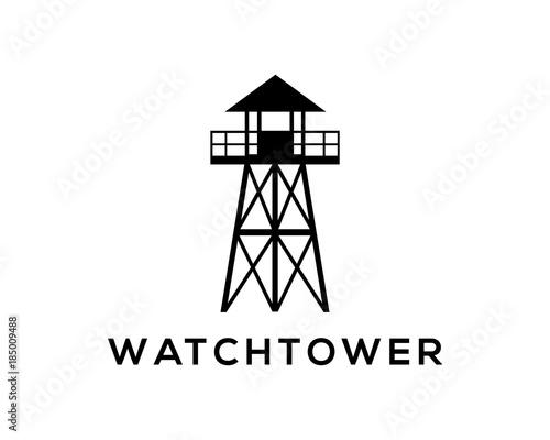 Slika na platnu Simple Watchtower on the Beach Company Logo Modern