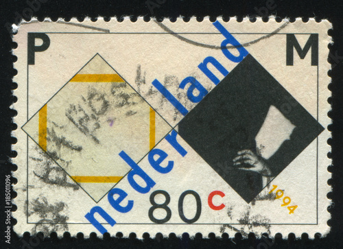 Poster  Netherlands retro stamp