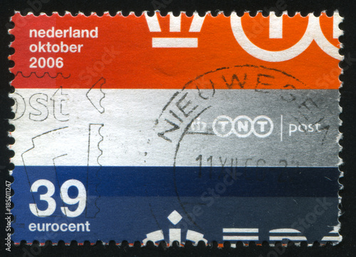 Netherlands retro stamp Poster