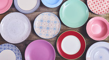 Set Of Different Colorful Dish...