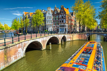 Typical Amsterdam Canals With ...