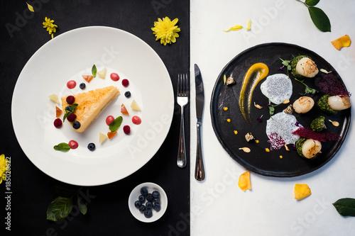 Fotografie, Obraz  contrast restaurant meals gourmet concept