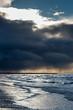 Baltic sea and clouds, Liepaja, Latvia.