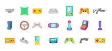 Video Game Icon Set, Cartoon S...
