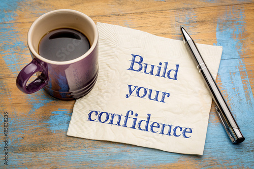 Build your confidence - advice on napkin Wallpaper Mural