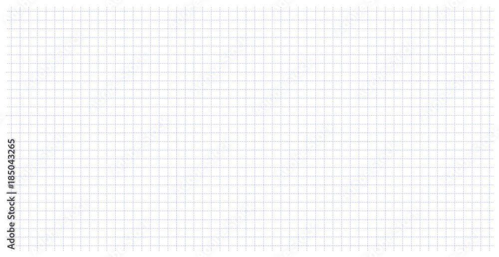 Fototapety, obrazy: Square wide grid pattern art blue color in dotted line. Wide grid design for print. Education. School notebook paper grid art in a cage. Dotted line table.