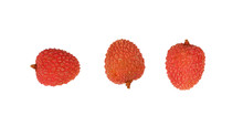 Fresh Red Lychee Isolated Clos...
