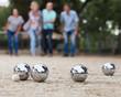 Leinwandbild Motiv people playing petanque at leisure