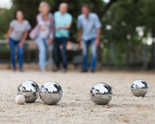 People Playing Petanque At Lei...