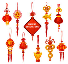Chinese New Year Ornament Icon...