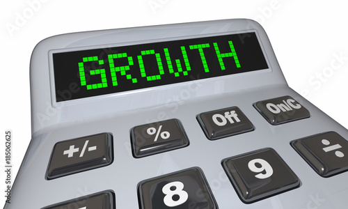 Growth Calculator Adding Income Money Increase Savings Ilration