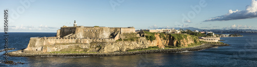Wide panorama of the El Morro Fortress in San Juan, Puerto Rico. Canvas Print