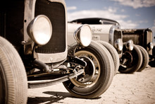 3 Hotrods At El Mirage California
