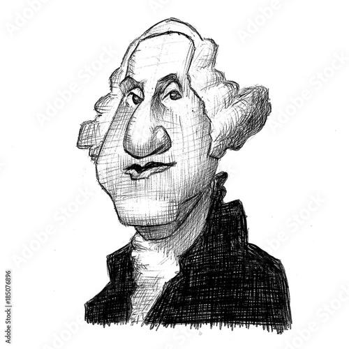 George Washington Caricature Canvas-taulu