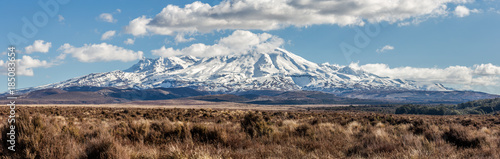 Canvas Prints Deep brown Mount Ruapehu, New Zealand.