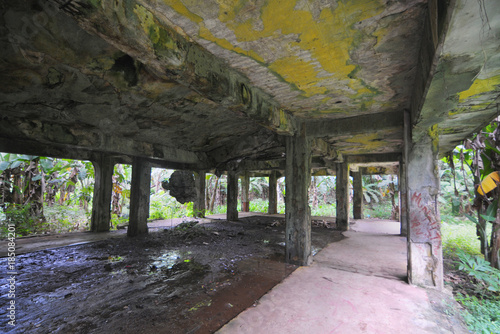 Canvas Prints Grocery Remains of Japanese military buildings on Eten island in the Truk Lagoon