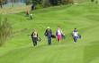canvas print picture - entspannter Flight auf dem Golfplatz