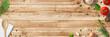 canvas print picture - Küche und Kochen - klassische Zutaten - Banner / Hintergrund