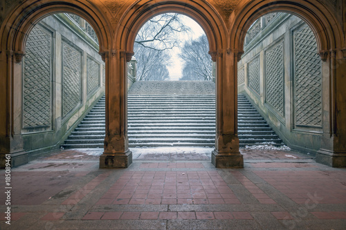 Bethesda Terrace and Fountain - Buy this stock photo and