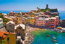 Vernazza Village In Cinque Terre In Italy