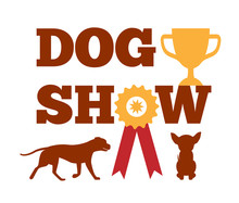 Dog Show Award With Ribbon Can...