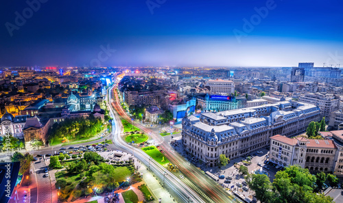bucharest between day and night