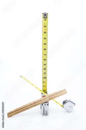Fotografija  Multiple rulers on white background