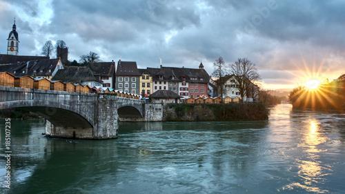 Weihnachtsmarkt Laufenburg.Sonnenuntergang Am Weihnachtsmarkt In Laufenburg Ch Kaufen Sie