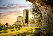 Abbey Of Sant'Antimo In Montalcino, Tuscany, Italy