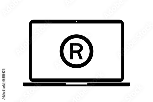 Laptop R Copyright Buy This Stock Vector And Explore Similar