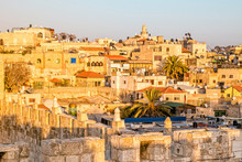 View Of The Old City Jerusalem...