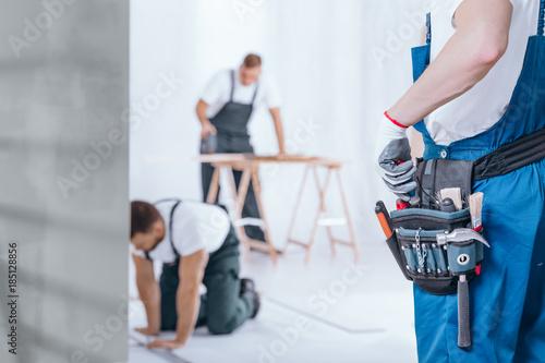 Fotografie, Obraz  Handyman with tool belt