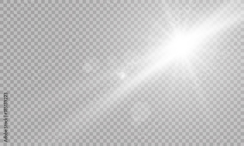 Fotografija Vector transparent sunlight special lens flare light effect.