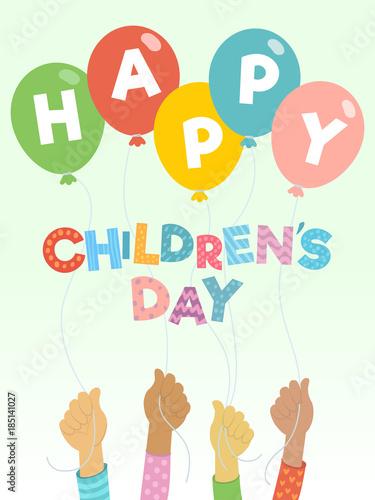Children's day vector background. Happy Children's Day ...