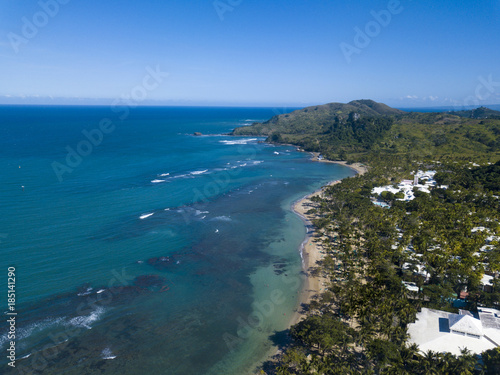 Foto op Plexiglas Caraïben Aerial view of tropical resort and beaches in the Dominican Republic.
