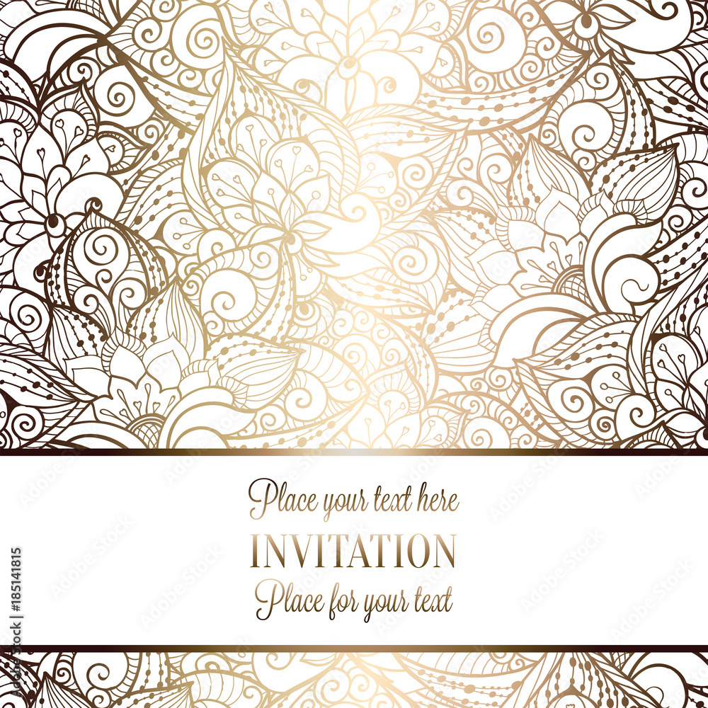 Obraz Intricate Baroque Luxury Wedding Invitation Card Rich