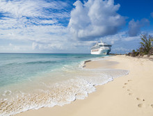 A Cruise Ship Docks In Grand T...
