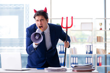 Devil Angry Businessman In The...