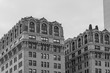 City building in a Chicago Downtown - black and white