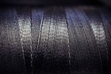 Synthetic Black Thread Close-up