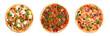 canvas print picture - Italian pizza with mozzarella