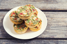 Egg Muffins With Onion , Peppe...