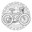 sport bicycle with chain and sprocket vector illustration design