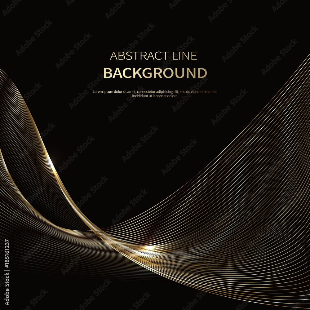 Fototapeta Abstract background of luxury gold lines
