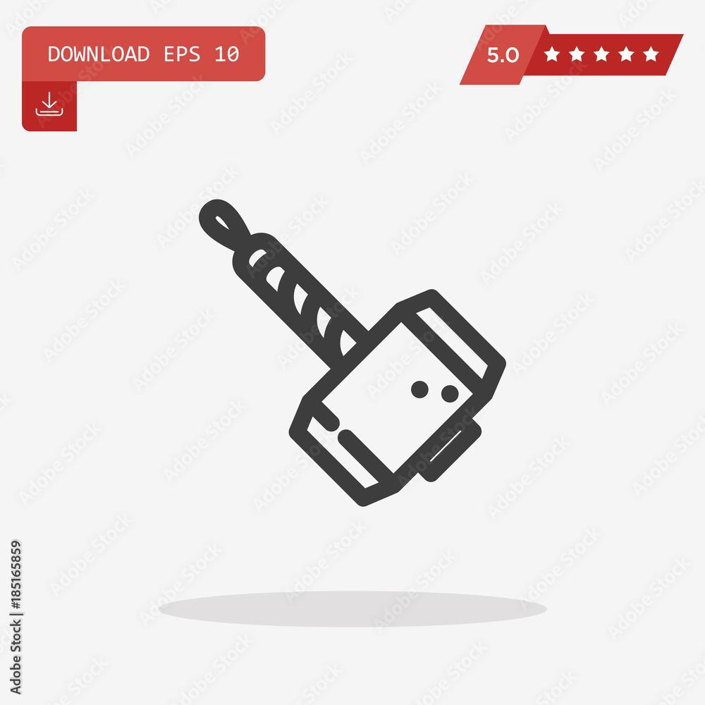 Valokuva Thor Hammer Icon in trendy flat style isolated on grey backgroun -  tilaa netistä Europosters.fi 8e7f1accd5