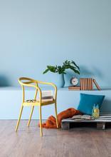 Home Blue Wall Room